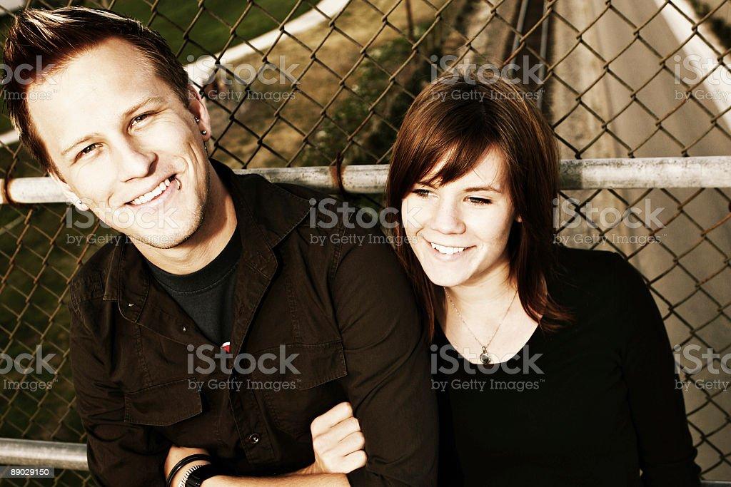 Good Looking Urban Couple royalty-free stock photo