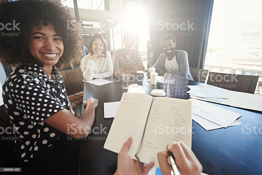 Good luck is the result of good planning stock photo