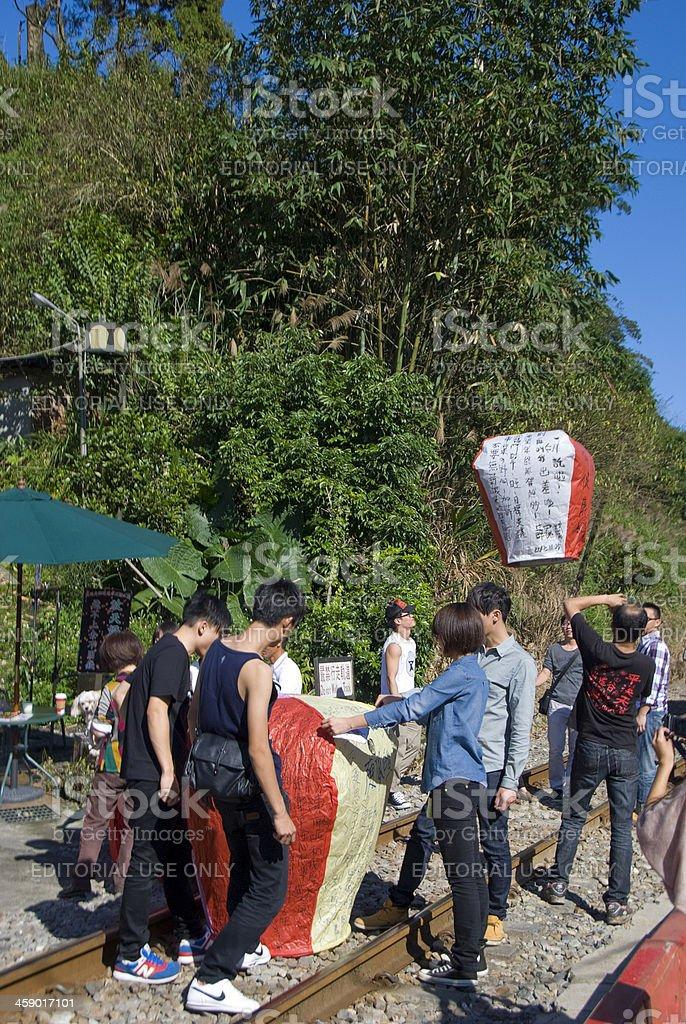Good Luck Lanterns royalty-free stock photo