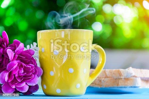 istock Good morning black coffee cup 889597946