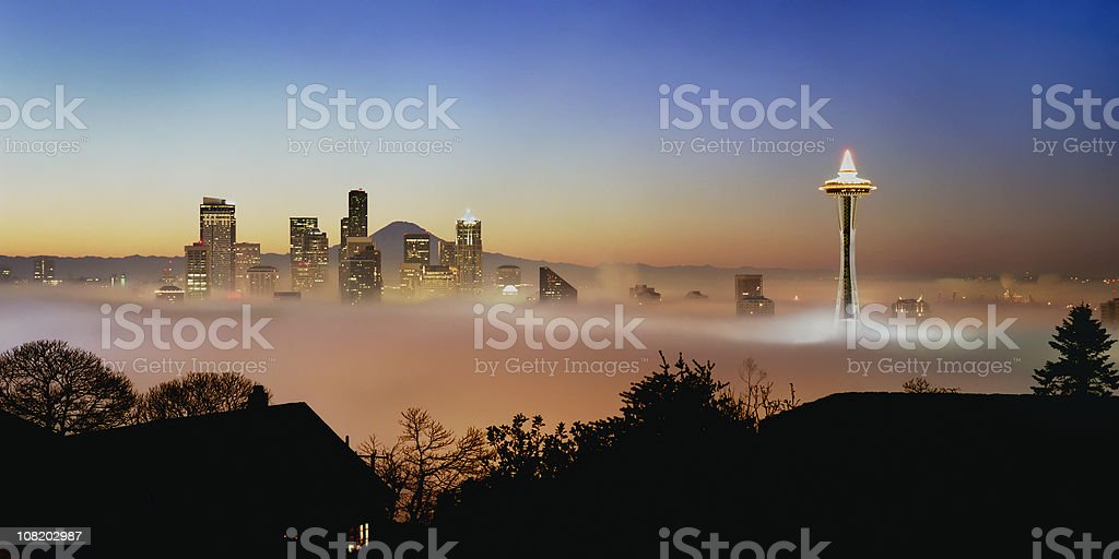 Good Morning city of Seattle, USA stock photo