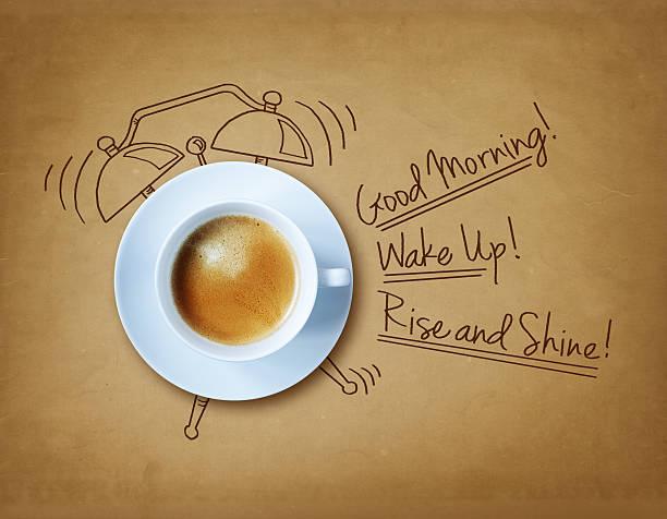 Good morning coffee stock photo