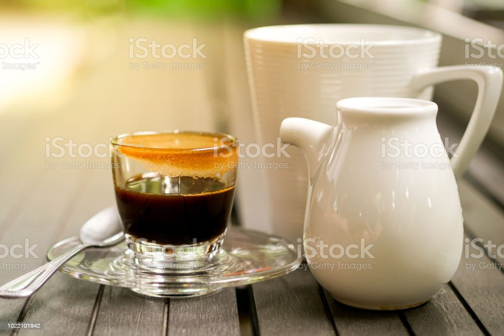 Good Morning Coffee With Milk Glass Stock Photo Download Image Now Istock