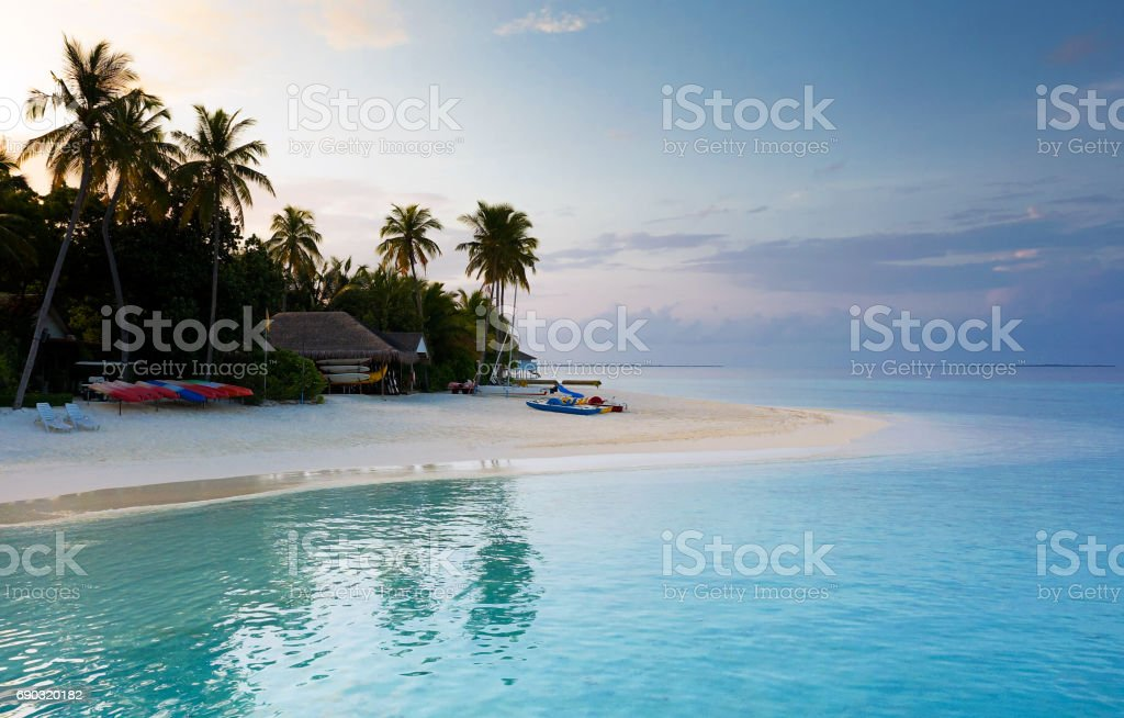 Good Morning from Maldive stock photo