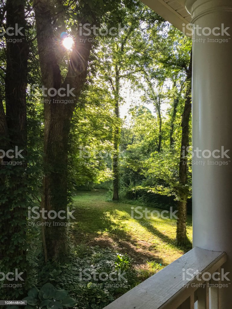 Good Morning from the Front Porch stock photo