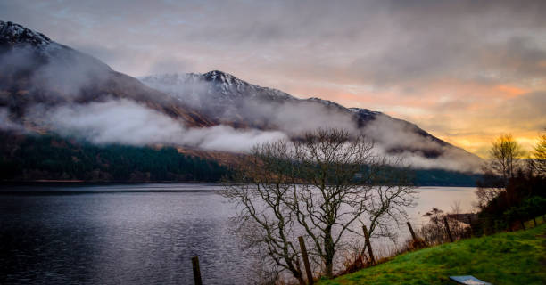 Good Morning From The Scottish Highlands When the sun rises at the Scottish Highlands. The image was taken at Letterfinaly, just outside the lodge at the early hours of the day. inverness scotland stock pictures, royalty-free photos & images