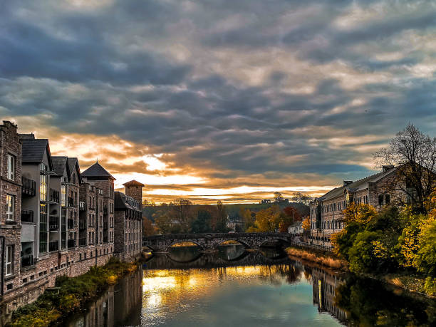 Good morning Kendal Sunrise coming up over Kendal cumbria stock pictures, royalty-free photos & images