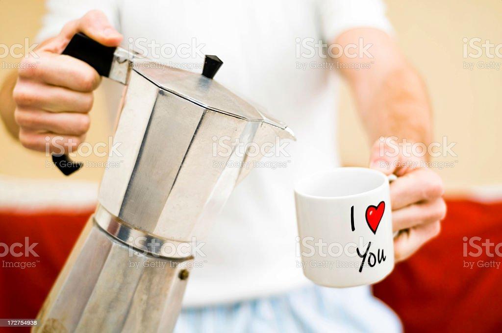 Good morning love royalty-free stock photo