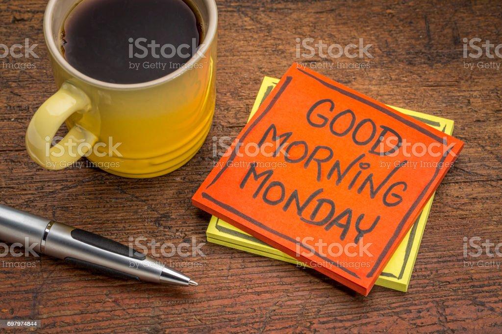 Guten Morgen Montag Hinweis Stockfoto Und Mehr Bilder Von Arbeiten