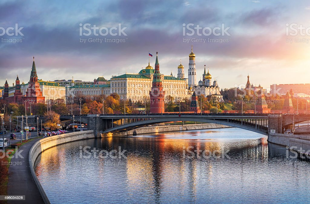 Good morning Moscow stock photo