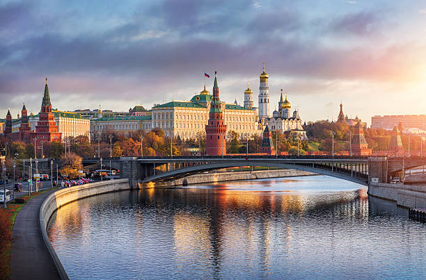good morning moscow - russia stock pictures, royalty-free photos & images