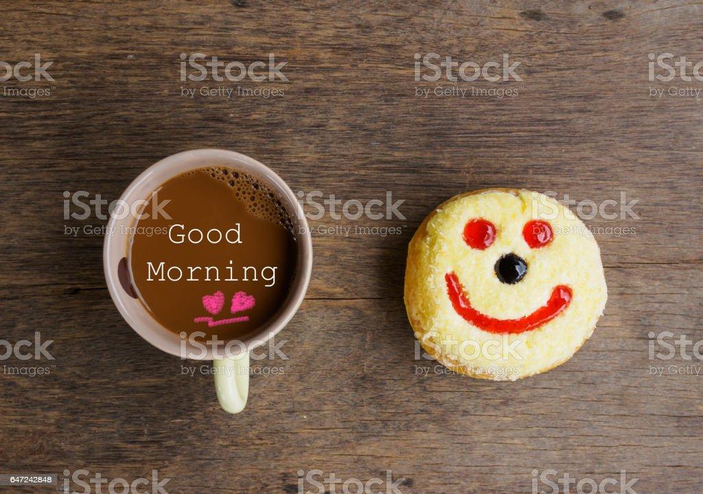 Buenos Días O Tiene Un Concepto De Mensaje De Buen Dia Taza De Café