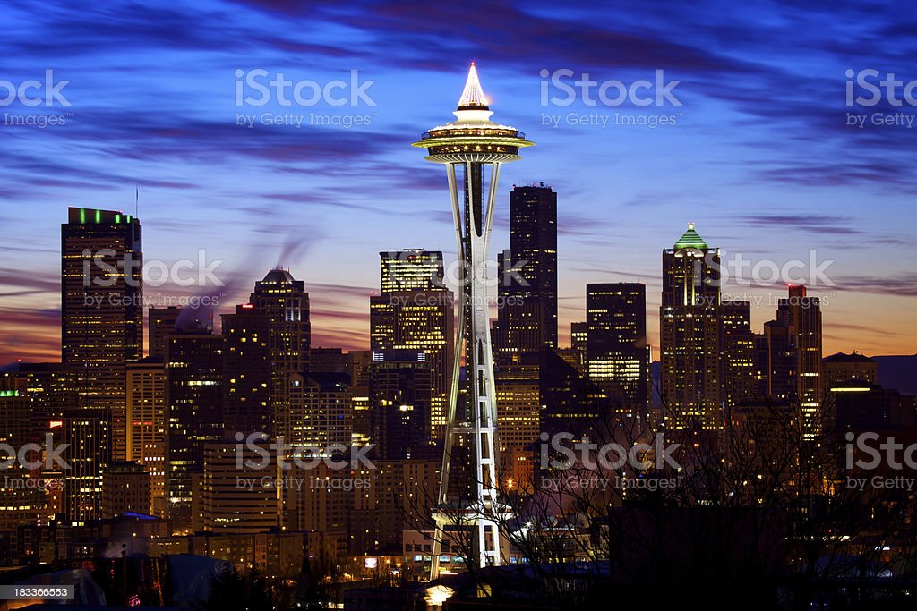 Good morning Seattle royalty-free stock photo