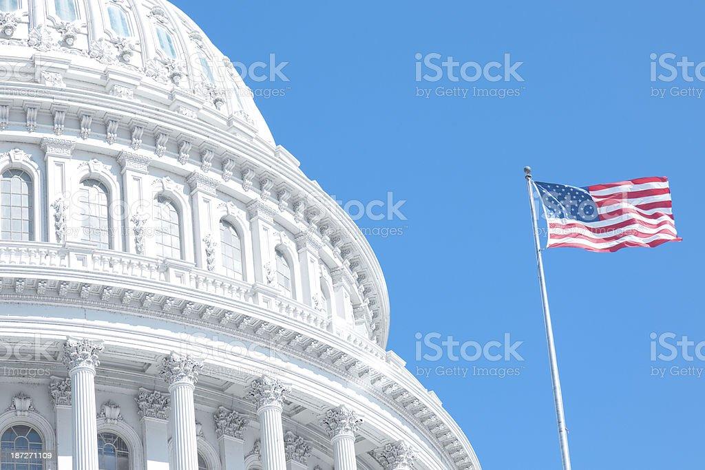 Good Morning US Capitol stock photo
