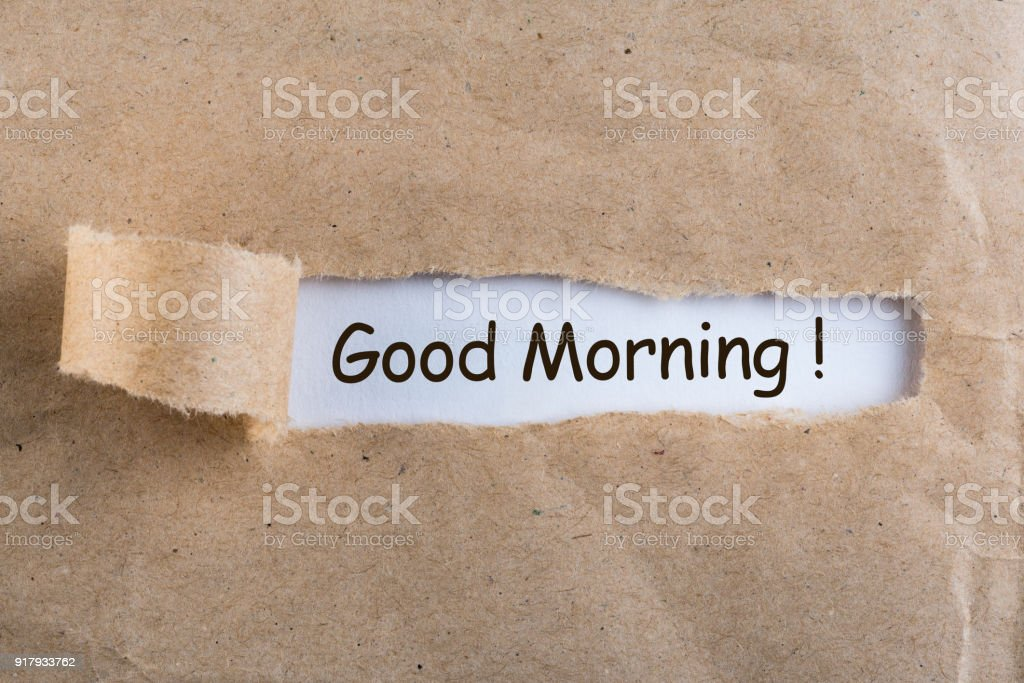 Wonderbaar Good Morning Wishes In A Torn Envelope Stock Photo - Download RF-77
