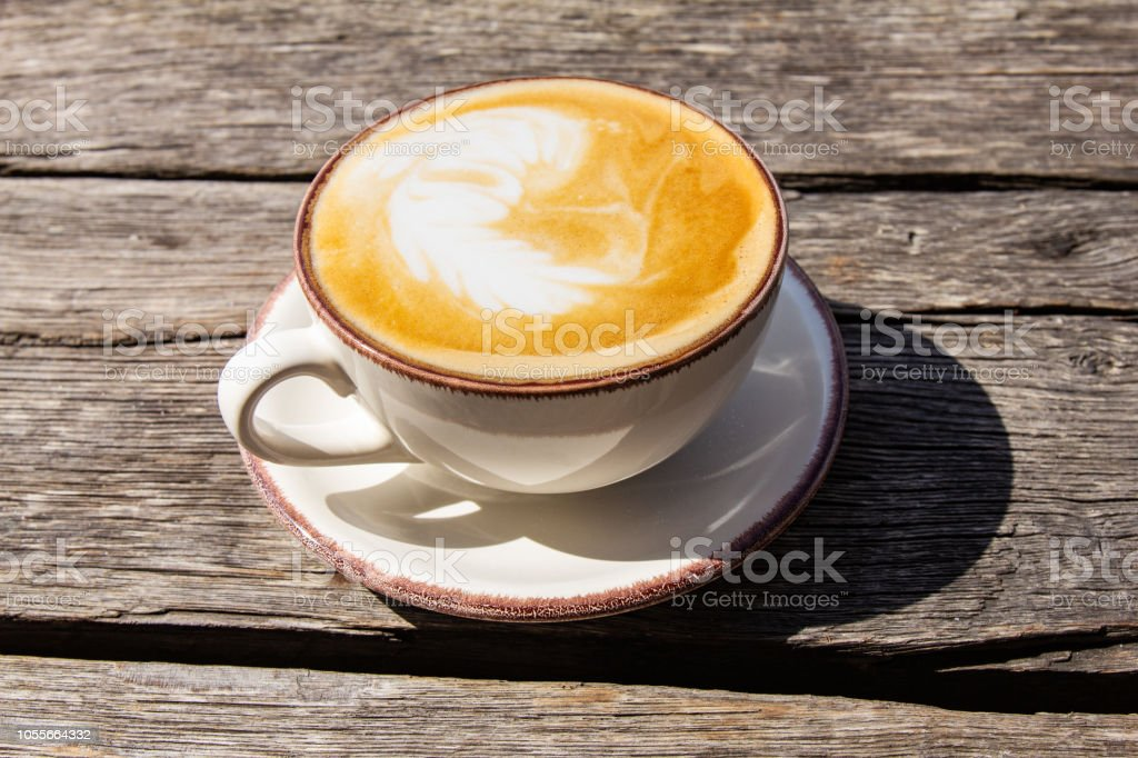Good Morning With Aromatic Coffee Cappuccino In White Cup