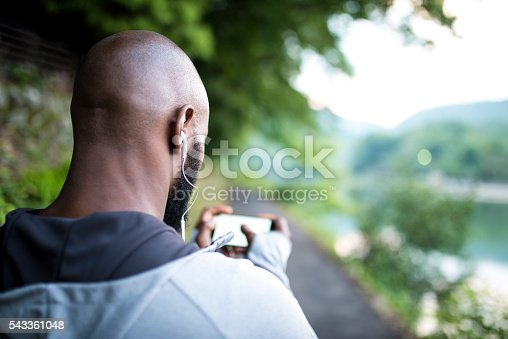 istock Good music for a good training 543361048