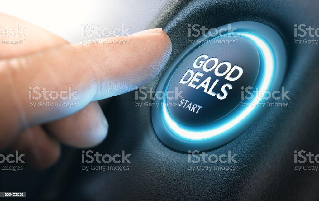 Buenas ofertas de coches nuevos, venta de autos - foto de stock