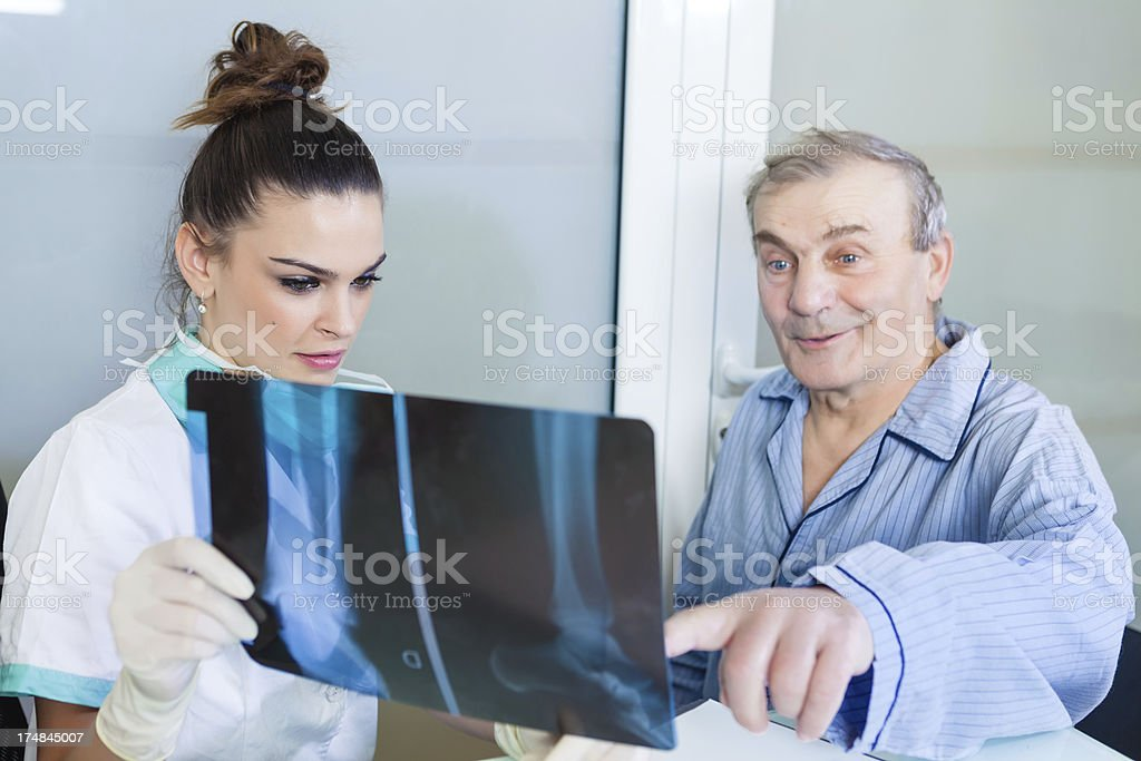 Good news for your injury stock photo