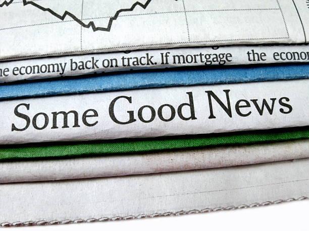 Good News Headline stock photo