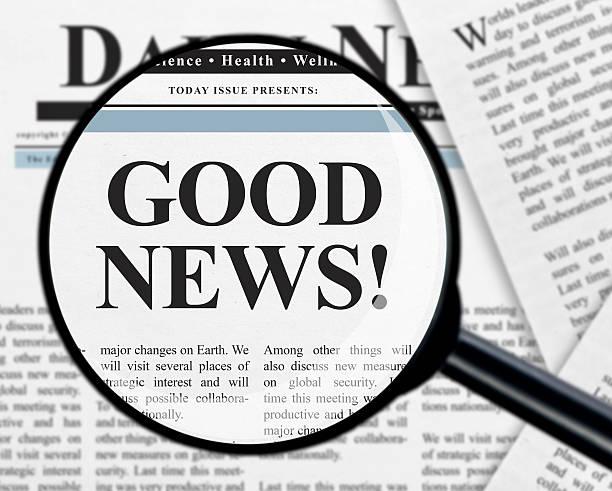 buone notizie titolo - buona notizia foto e immagini stock