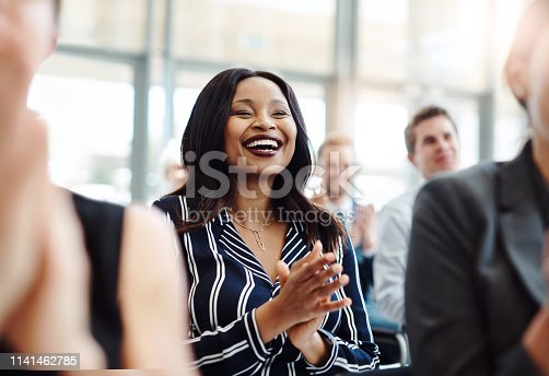 istock Good news is a great way to start a presentation 1141462785