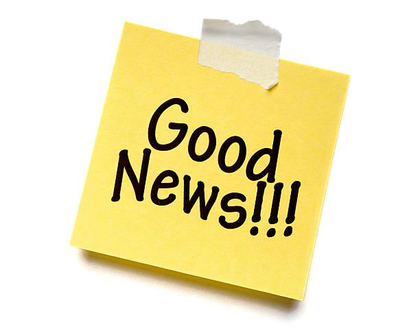 Good News! Post-it Note stock photo