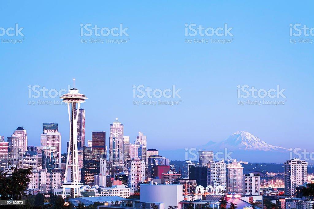 Good Night Seattle royalty-free stock photo