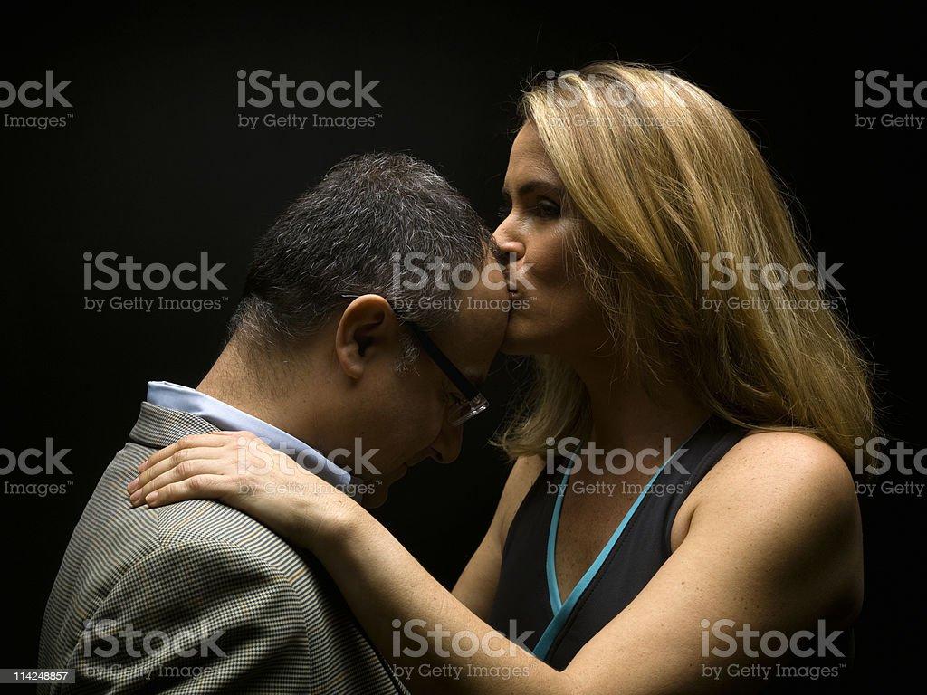 Good nite kiss royalty-free stock photo