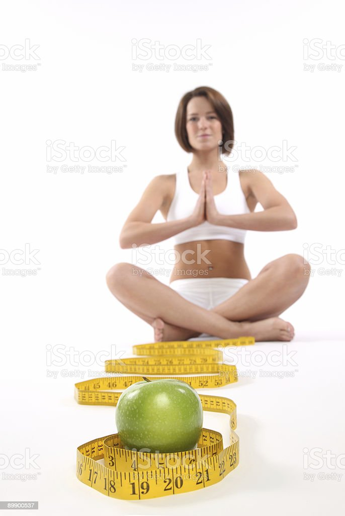 Good nutrition and exercise royalty-free stock photo