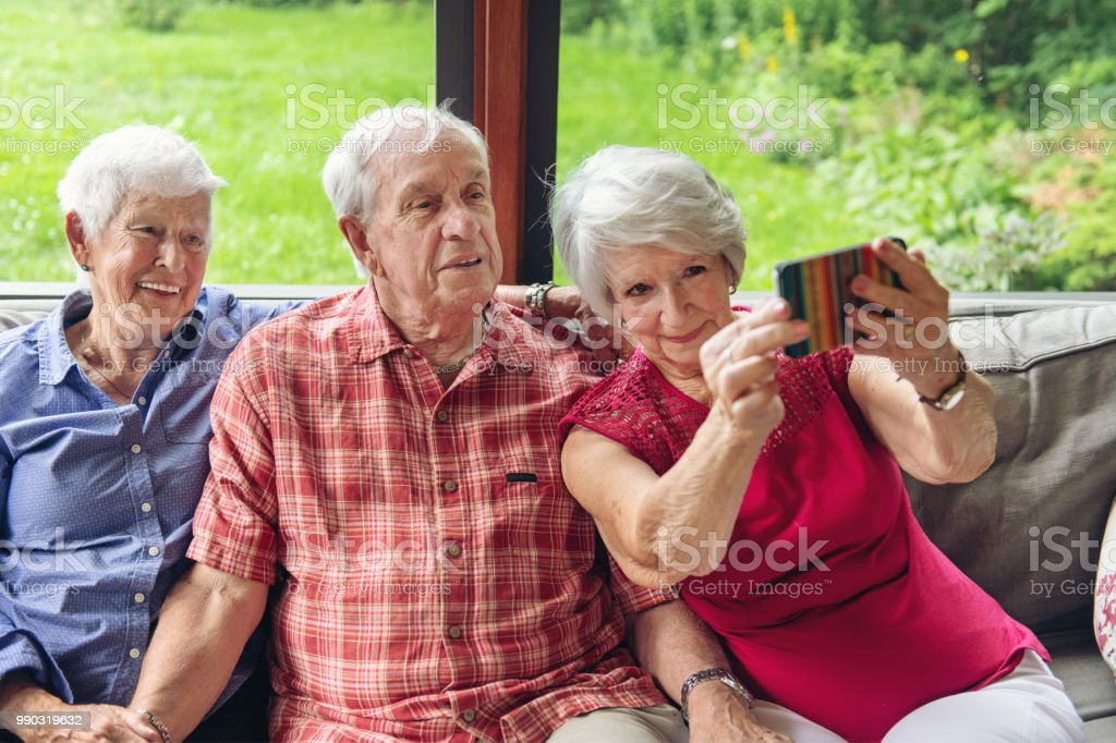 Good Old Friends stock photo