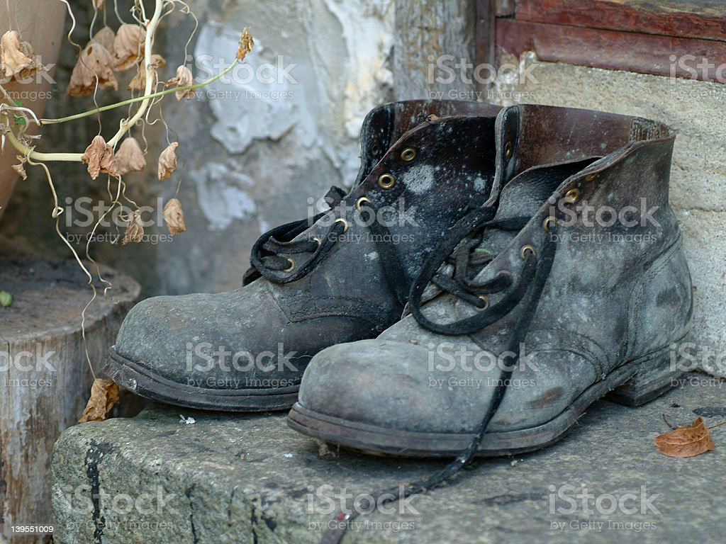 good old shoes stock photo