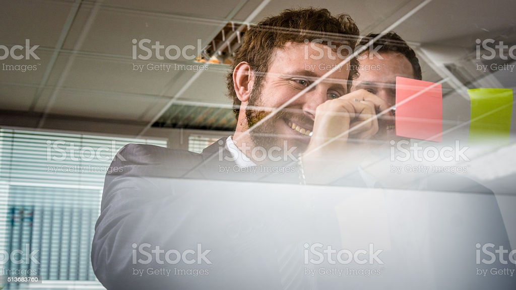 Good part of teamwork stock photo