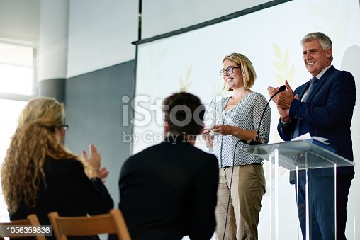 istock Good performance is well received 1056359836