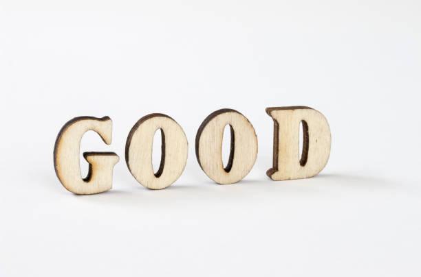 gute - 3d typografie stock-fotos und bilder