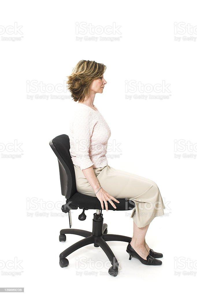 good posture royalty-free stock photo
