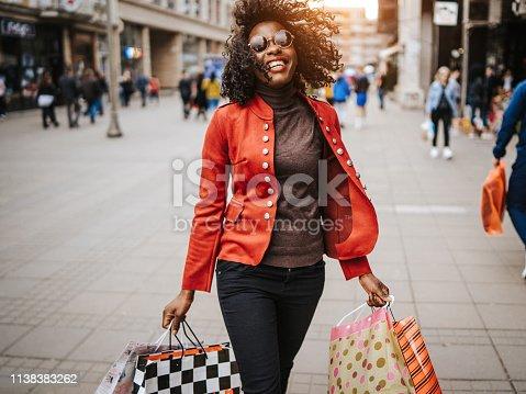 Happy women in shopping