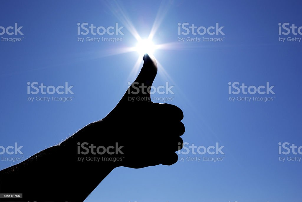 Good sign in sky. royalty-free stock photo
