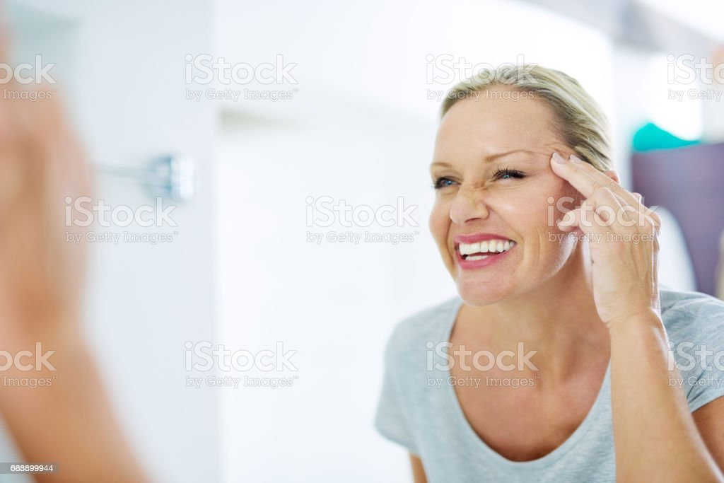 Good skincare habits will have you looking younger stock photo