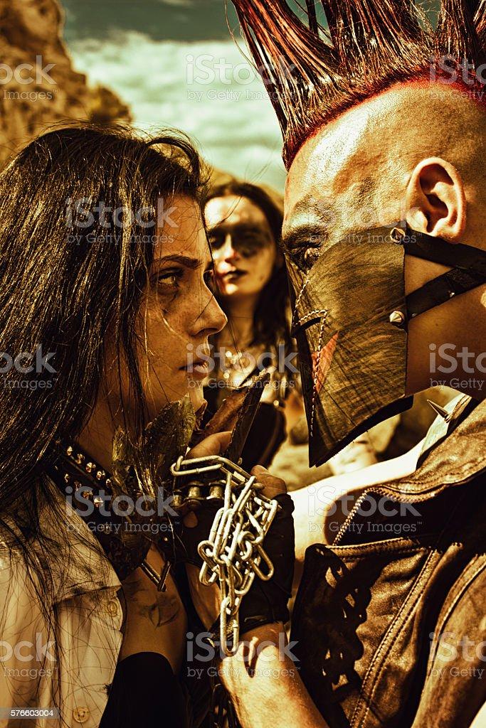 Good slave. I take her! stock photo