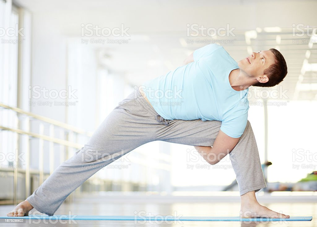 Good stretching royalty-free stock photo