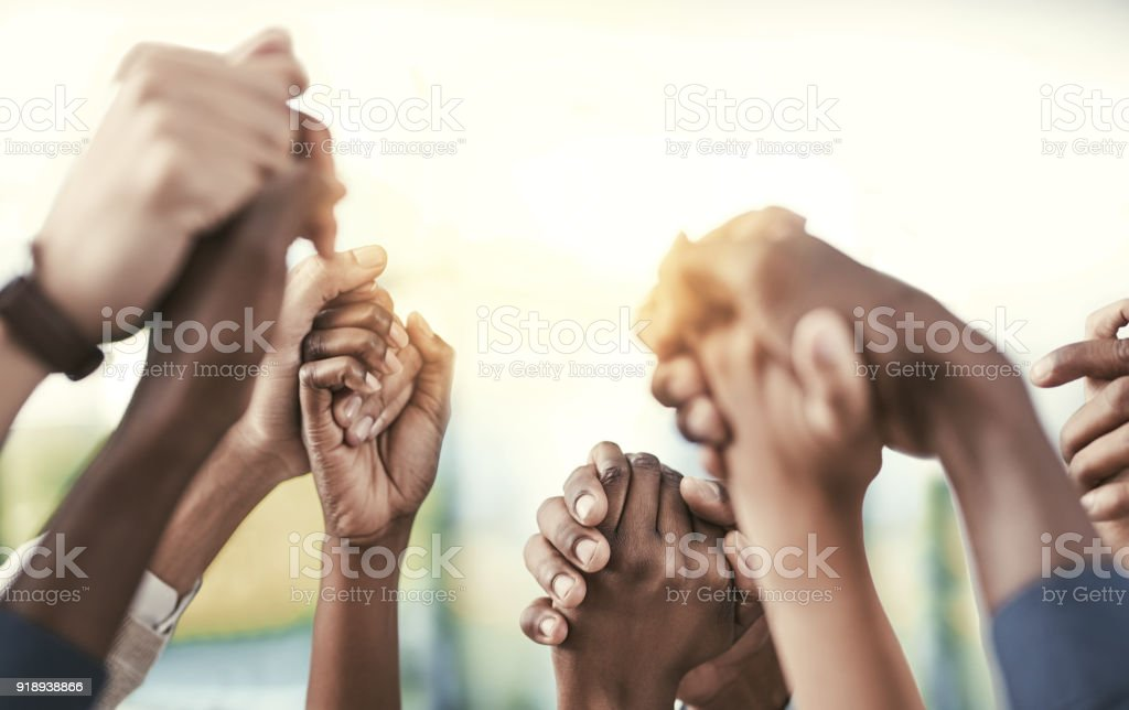 Good teams become great ones when they support each other stock photo