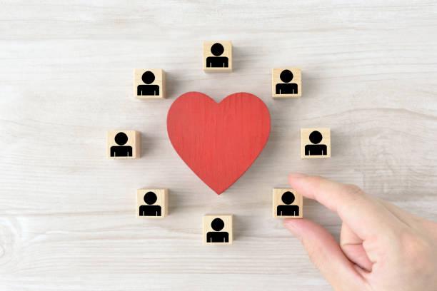 Good teamwork and human relationship images stock photo