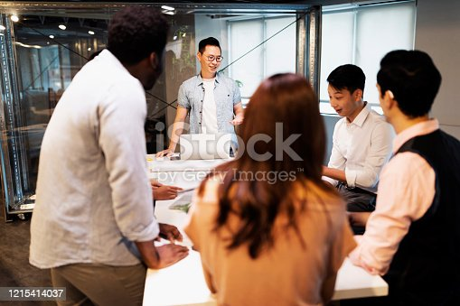609072850 istock photo Good teamwork can give us  a great boost for our business 1215414037