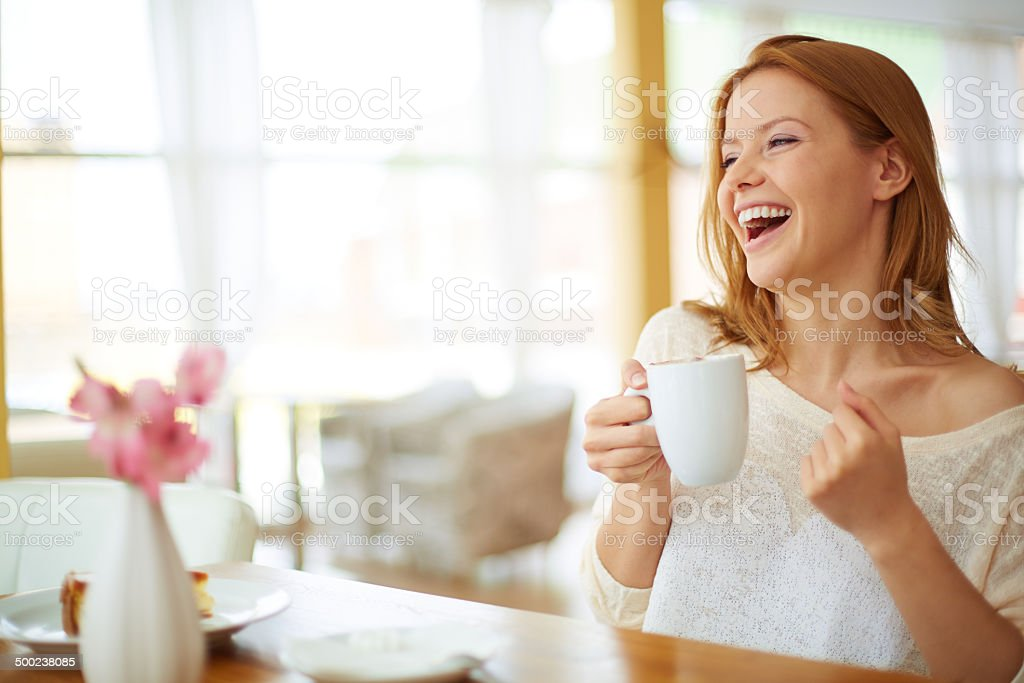 Good time in cafe stock photo