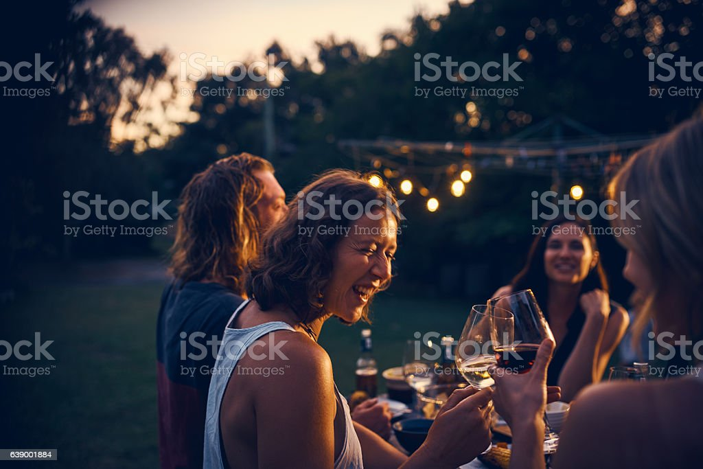 Good times with friends are the best times stock photo
