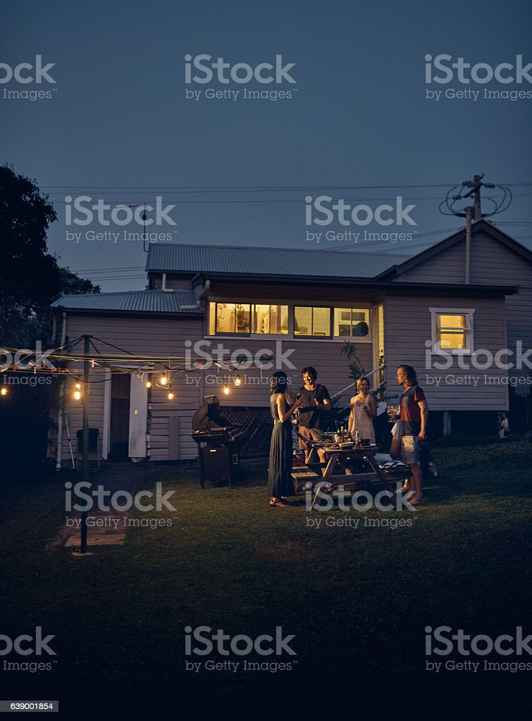 Good times with friends is something to remember stock photo