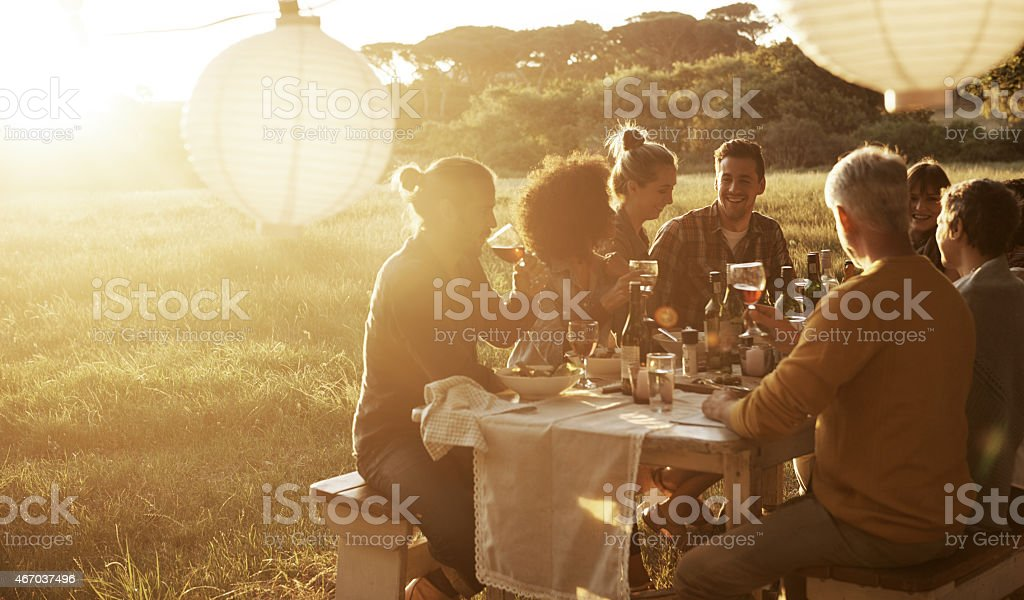 Good times with great friends stock photo