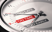 istock Good timing. Choosing the right moment. 1218326521