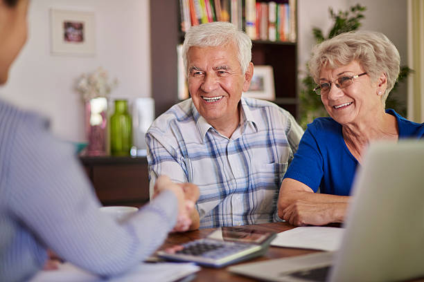 good transaction is the success - senior housing stock photos and pictures